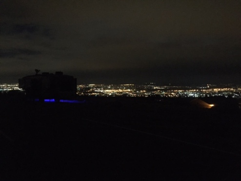 Night time RV Cheyenne Mnt